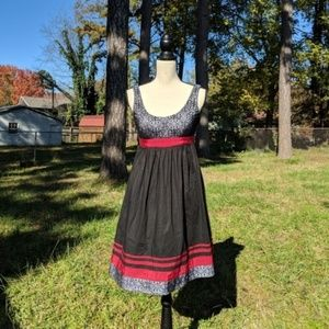 Adrianna Papell Lace Black & Red Dress 4